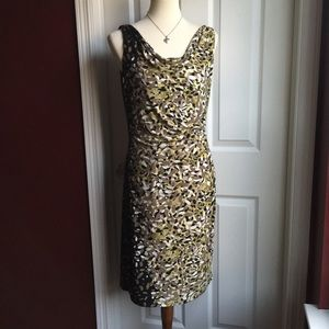 Anne Klein Multi Bronw Fitted Dress